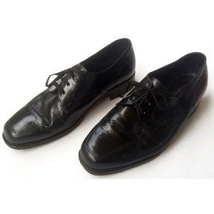 Florsheim Mens Black Leather Oxfords SZ 8.5 3E